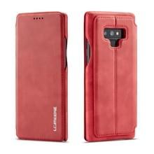 Voor Galaxy Note 9 Hon oude serie lederen draagtas met kaartsleuven & houder & portemonnee (rood)
