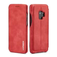 Voor Galaxy S9 PLUS Hon Ancient Series lederen draagtas met kaartsleuven & houder & portemonnee (rood)