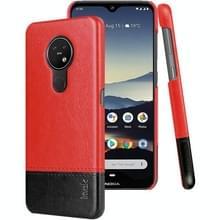 Voor Nokia 7 2/6 2 IMAK Ruiyi serie beknopte slanke PU + PC beschermhoes met Explosieveilige schermbeschermer (zwart + rood)