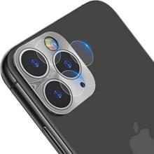 IMAK volledige dekking metalen Achtercamera lens bescherming ring cover met hoge transparantie lens film (zilver)