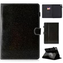 Voor iPad Air/Air 2/iPad 9 7 vernis glitter poeder horizontale Flip lederen draagtas met houder & kaartsleuf (zwart)