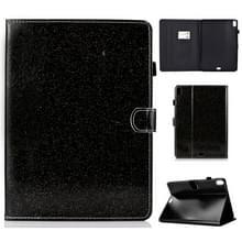 Voor iPad Pro 11 (2018) vernis glitter poeder horizontale Flip lederen draagtas met houder & kaartsleuf (zwart)