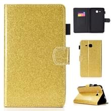 Voor Galaxy Tab A 7.0 (2016) T280 Varnish Glitter Powder Horizontal Flip Leather Case met Holder & Card Slot(Gold)