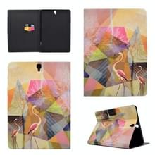 Voor Galaxy Tab S3 9.7 T820 TPU Horizontale Flip Lederen case met Holder & Card Slot & Sleep / Wake-up Function(Flamingo)