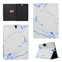 Voor Galaxy Tab S3 9.7 T820 TPU Horizontale Flip Lederen kast met Holder & Card Slot & Sleep / Wake-up Functie(White Marble)