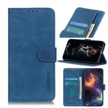 Voor Wiko Y80 Retro Texture PU + TPU Horizontal Flip Leather Case met Houder & Card Slots & Wallet(Blue)