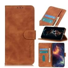 Voor Wiko Y80 Retro Texture PU + TPU Horizontal Flip Leather Case met Holder & Card Slots & Wallet(Brown)