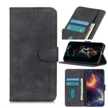 Voor Alcatel 3X (2019) Retro Texture PU + TPU Horizontal Flip Leather Case met Houder & Card Slots & Wallet(Black)