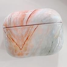 Voor AirPods Pro Marble Texture Plastic oortelefoon Beschermhoes (Oranje)