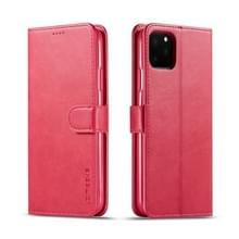 Voor de iPhone 11 Pro Max LC. IMEEKE Calf Texture Horizontal Flip Leather Case  met Holder & Card Slots & Wallet(Red)