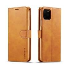 Voor de iPhone 11 Pro Max LC. IMEEKE Calf Texture Horizontal Flip Leather Case  met Holder & Card Slots & Wallet(Geel)