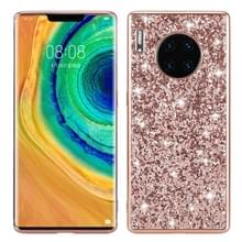 Voor Huawei Mate 30 Pro Glittery Powder Shockproof TPU Case (Rose Rold)