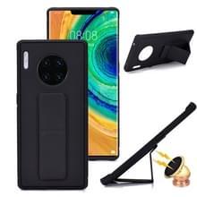 Voor Huawei Mate 30 Shockproof PC + TPU Beschermhoes met polsbandje & houder (zwart)