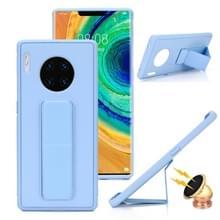 Voor Huawei Mate 30 Shockproof PC + TPU Beschermhoes met Polsband & Houder (Lichtblauw)