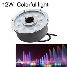 12 w landschap kleurrijke kleur veranderende ring LED aluminiumlegering onderwater fontein licht (kleurrijke)