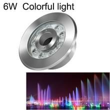 6W landschap kleurrijke kleur veranderende ring LED roestvrijstaal onderwater fontein licht (kleurrijke)