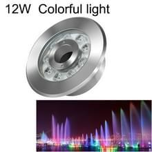 12W landschap kleurrijke kleur veranderende ring LED roestvrijstaal onderwater fontein licht (kleurrijke)
