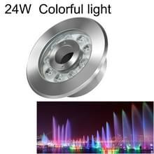 24W landschap kleurrijke kleur veranderende ring LED roestvrijstaal onderwater fontein licht (kleurrijke)