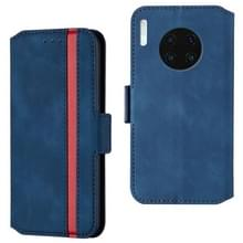 For Huawei Mate 30 Retro Frosted Oil Side Horizontal Flip Case with Holder & Card Slots(Blue)