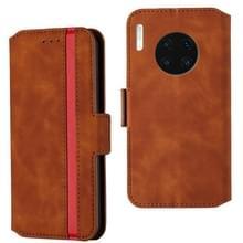 Voor Huawei Mate 30 Retro Frosted Oil Side Horizontal Flip Case met Holder & Card Slots (Brown)