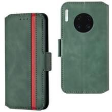 Voor Huawei Mate 30 Retro Frosted Oil Side Horizontal Flip Case met Holder & Card Slots (Groen)