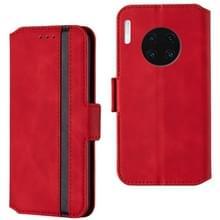 Voor Huawei Mate 30 Retro Frosted Oil Side Horizontal Flip Case met Holder & Card Slots (Red)