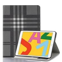 Voor iPad 10.2 / 10.5 Plaid Texture Horizontal Flip Leather Case met Holder & Card Slots & Wallet(Grey)