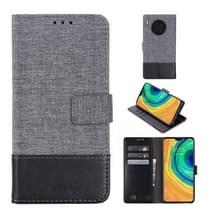 Voor Huawei Mate 30 MUMXA MX102 Horizontal Flip Canvas Stitching Lederen behuizing met Houder & Card Slots & Wallet(Zwart)