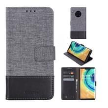 Voor Huawei Mate 30 Pro MUMXA MX102 Horizontaal Flip Canvas Stiksels Lederen hoes met Houder & Card Slots & Wallet(Zwart)