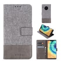 Voor Huawei Mate 30 Pro MUMXA MX102 Horizontaal Flip Canvas Stiksels Lederen hoes met Houder & Card Slots & Wallet(Grijs)