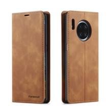 Voor Huawei Mate 30 Forwenw Dream Series Oil Edge Strong Magnetism Horizontal Flip Leather Case met Holder & Card Slots & Wallet & Photo Frame(Brown)