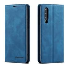 Voor Huawei P30 Forwenw Dream Series Oil Edge Strong Magnetism Horizontal Flip Leather Case met Holder & Card Slots & Wallet & Photo Frame(Blue)