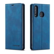 Voor Huawei P30 Lite Forwenw Dream Series Oil Edge Strong Magnetism Horizontal Flip Leather Case met Holder & Card Slots & Wallet & Photo Frame(Blauw)