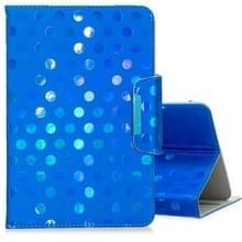 Voor 8 inch Universal Tablet Solid Color Wave Point Horizontal Flip Leather Case   met Holder (Royal Blue)