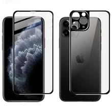 Voor iPhone 11 Pro Max IMAK Metal Frame Full Screen Tempered Glass Film Screen Film + Back Film(Zwart)