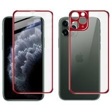 Voor iPhone 11 Pro Max IMAK Metal Frame Full Screen Tempered Glass Film Screen Film + Back Film(Red)