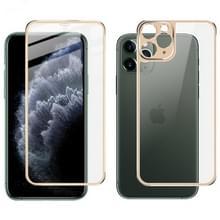 Voor iPhone 11 Pro Max IMAK Metal Frame Full Screen Tempered Glass Film Screen Film + Back Film(Golden)