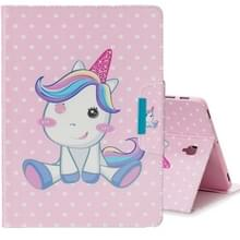 Voor Galaxy tab S4 10 5 T830 gekleurde tekening patroon horizontale Flip lederen draagtas met houder & Card slot & portemonnee (cute Unicorn)