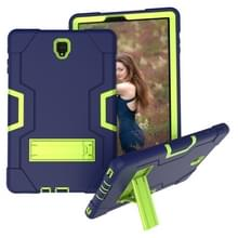 Voor Galaxy Tab S4 10.5 T830 Contrast Color Silicone + PC Combination Case with Holder (Navy Blue +Olivine)