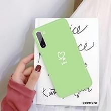 Voor Galaxy Note10 Love hart u patroon Frosted TPU beschermhoes (groen)