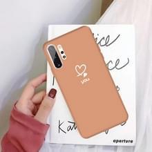 Voor Galaxy Note10 + Love hart u patroon Frosted TPU beschermhoes (koraal oranje)