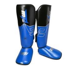 MTB SJ-004A Freestyle Grappling Thai Boxing Training Leg Guards Ankle Protector Sport Beschermende Kleding  Grootte: S (Blauw)