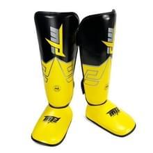 MTB SJ-004A Freestyle Grappling Thai Boxing Training Leg Guards Ankle Protector Sport Beschermende Kleding  Grootte: L (Geel)