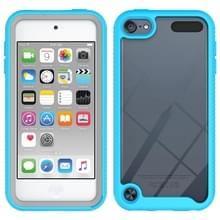For iPod Touch 5 / 6 / 7 Two-layer Design Shockproof PC + TPU Protective Case(Light Blue)