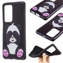 Voor Huawei P40 Pro Reliëf Patroon TPU Soft Cover Case (Big Panda)