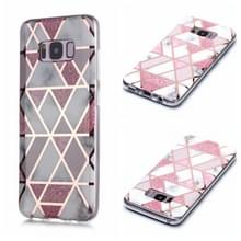 Voor Galaxy S8+ Plating Marble Pattern Soft TPU Protective Case (Roze)