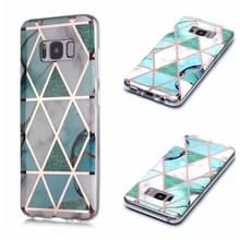 Voor Galaxy S8+ Plating Marble Pattern Soft TPU Protective Case (Groen Wit)