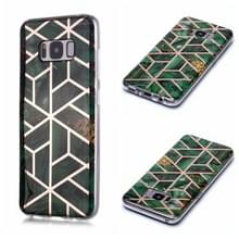 Voor Galaxy S8+ Plating Marble Pattern Soft TPU Protective Case(Groen)