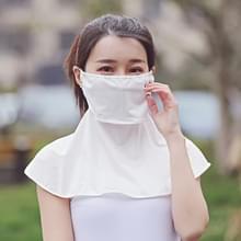 Zomer Outdoor Ice Silk Zonneschaduw Gezichtsmasker Zon-proof Sjaal (Wit)