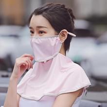 Zomer Outdoor Ice Silk Zonneschaduw Gezichtsmasker Zon-proof Sjaal (Roze)